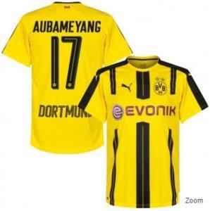 Borussia Dortmund Home Trikot Aubameyang 17 by subsidesports.de